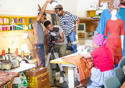 Shooting the crowdfunding video in Kayamandi